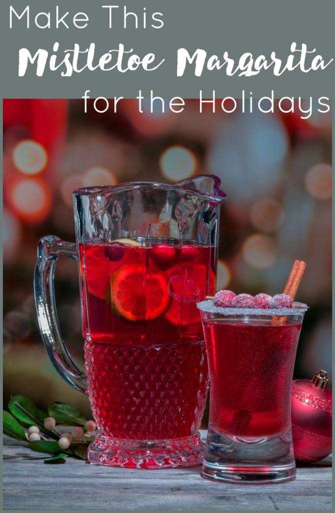 make this mistletoe margarita for the holidays