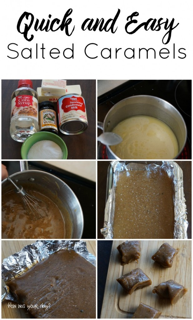 quick and easy salted caramels - step by step