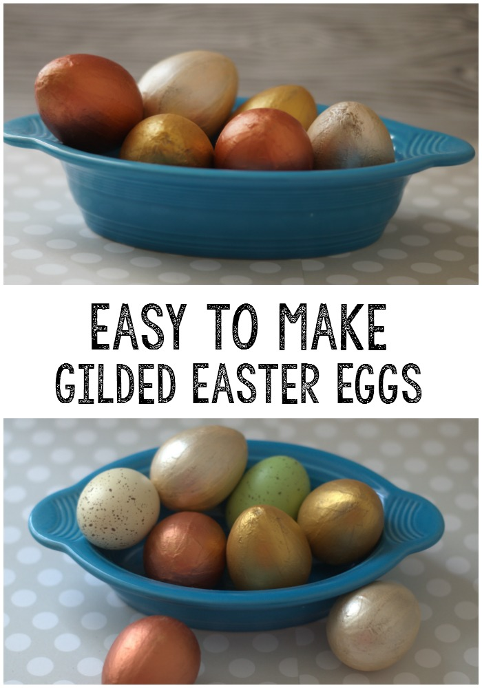Make these super easy gilded Easter eggs and add a touch of class to your decor.