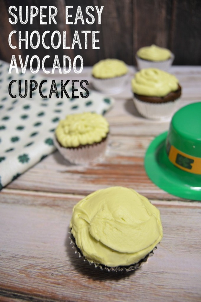 Super Easy Chocolate Avocado Cupcakes with avocado buttercream frosting