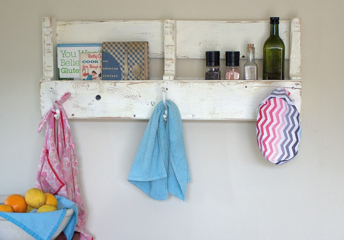 pallet wood coat rack with shelf