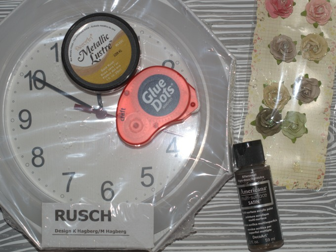 diy flower wall clock supplies