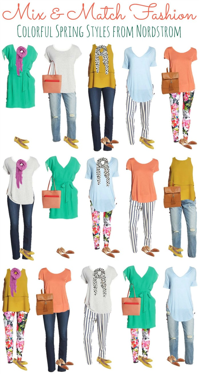 colorful spring mix and match wardrobe from nordstrom how was your day. Black Bedroom Furniture Sets. Home Design Ideas