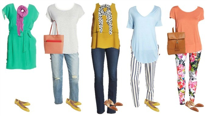 Colorful Spring Mix and Match Wardrobe from Nordstrom