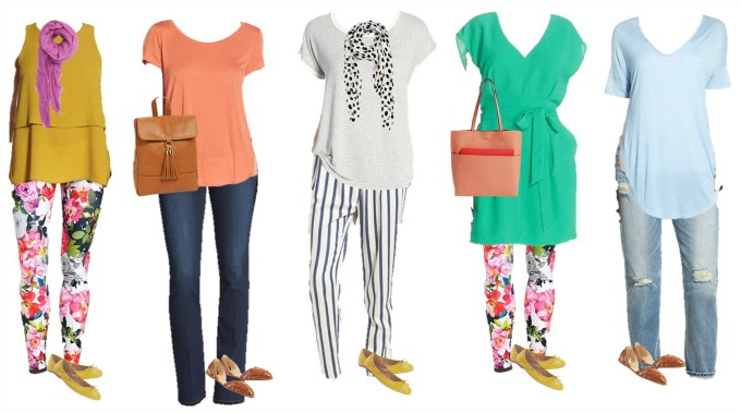 nordstrom colorful Mix and Match Spring fashion 11-15