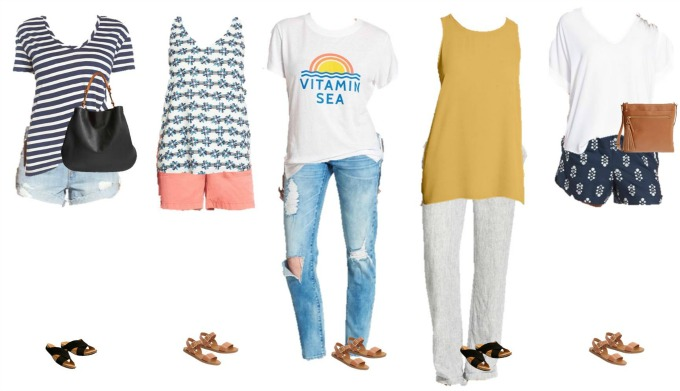 Nordstrom Summer Mix and Match Fashion outfits 1-5