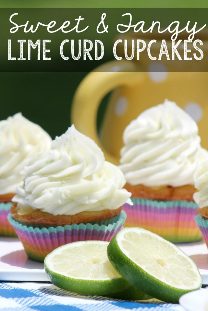 Sweet and Tangy Lime Curd Cupcakes