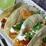 Quick And Easy Chipotle Shrimp Tacos with Lime Crema Sauce