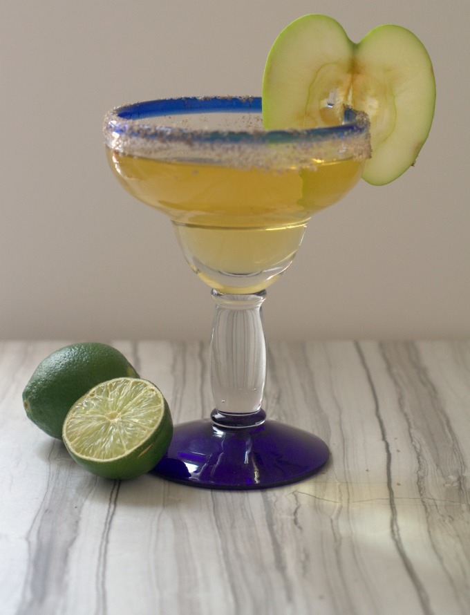 Sopisticated smoked apple margarita