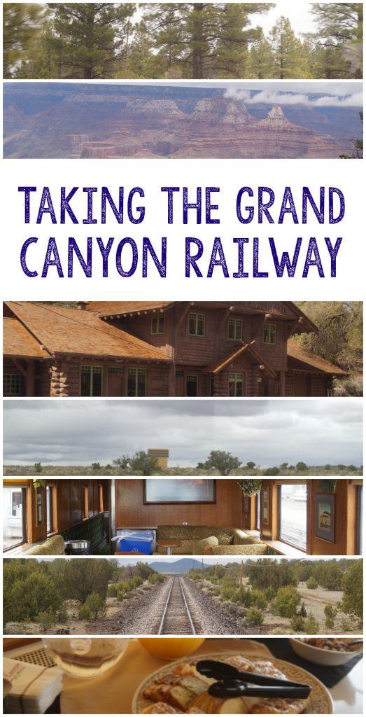 Taking the Grand Canyon Railway train
