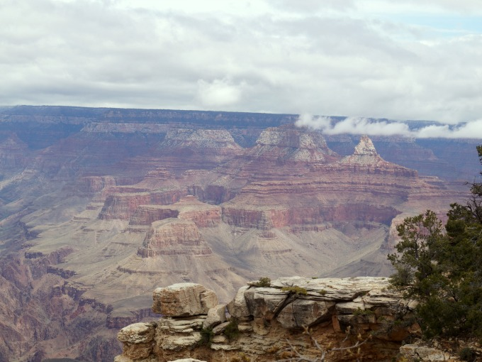 A view of the South Rim of the Grand Canyon