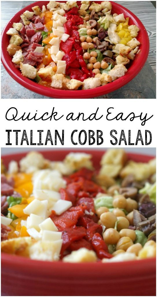 quick and easy Italian Cobb salad