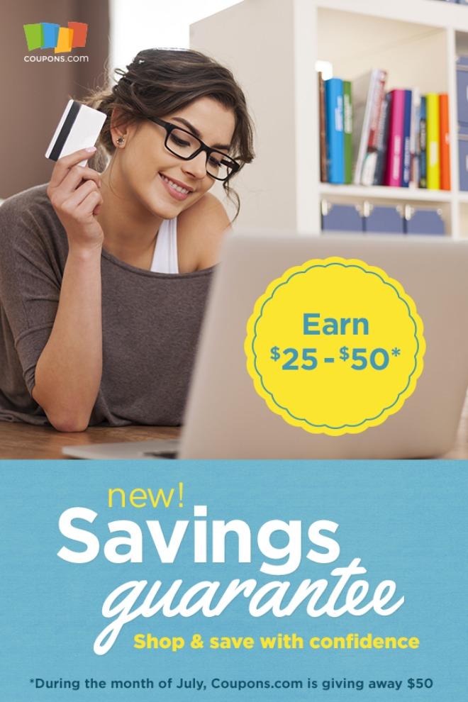 Coupons.com Savings Guarantee program
