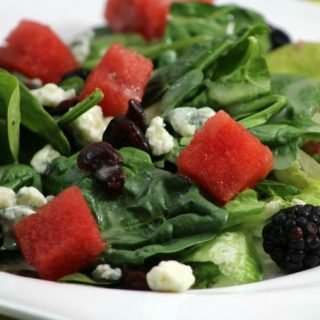Watermelon Blackberry salad with Lemon Vinaigrette