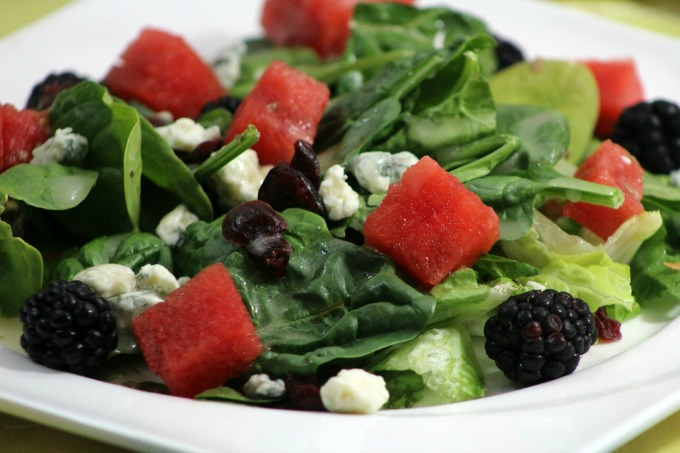 Watermelon and Blackberry Salad with Lemon Vinaigrette ...