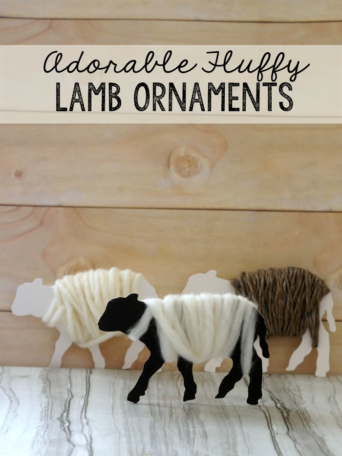 How to make really adorable fluffy sheep ornaments