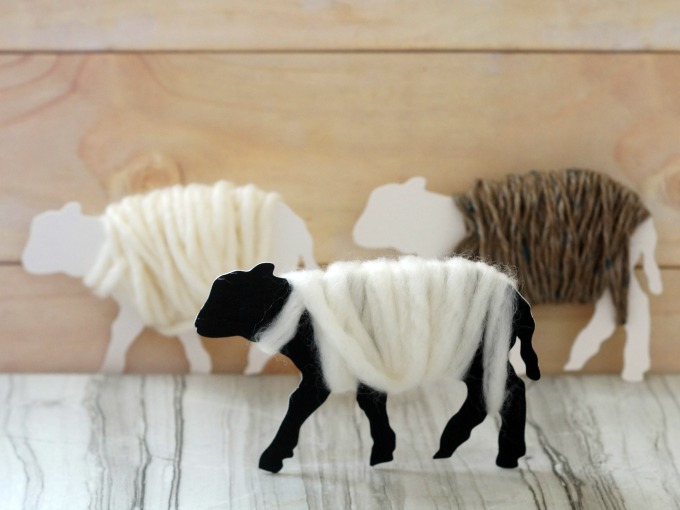 Adorable fluffy lamb ornaments