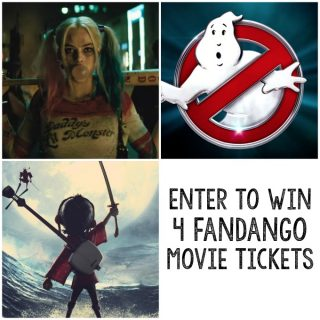 Win 4 Fandango Movie Tickets in this Giveaway