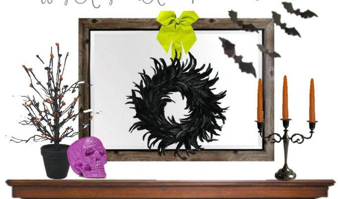 Haunt Your House with this Spooky DIY Halloween Mantel Decor Idea
