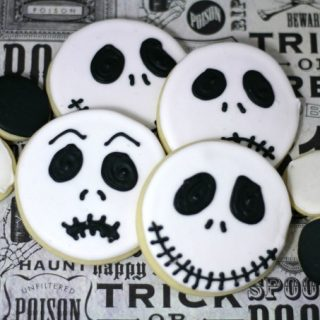 Make These Jack Skellington Nightmare Before Christmas Decorated Sugar Cookies