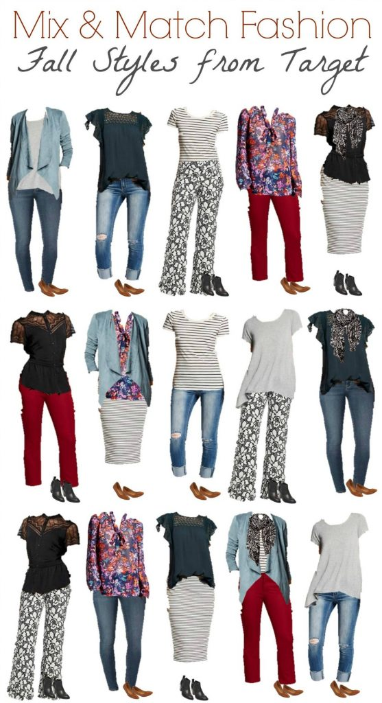 Target Mix and Match Capsule Wardrobe for fall