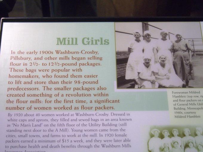 History of women working in flour mills