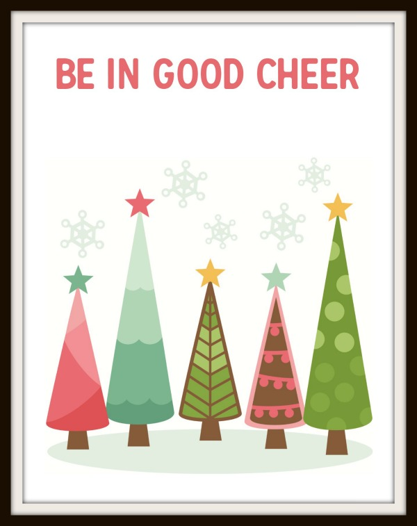 Be in good cheer free Christmas printable