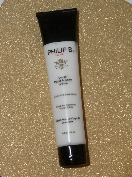 Need a good hand creme for winter? Try the Philip B Lovin' Hand and Body Creme