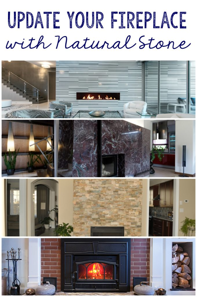 Update your fireplace with natural stone