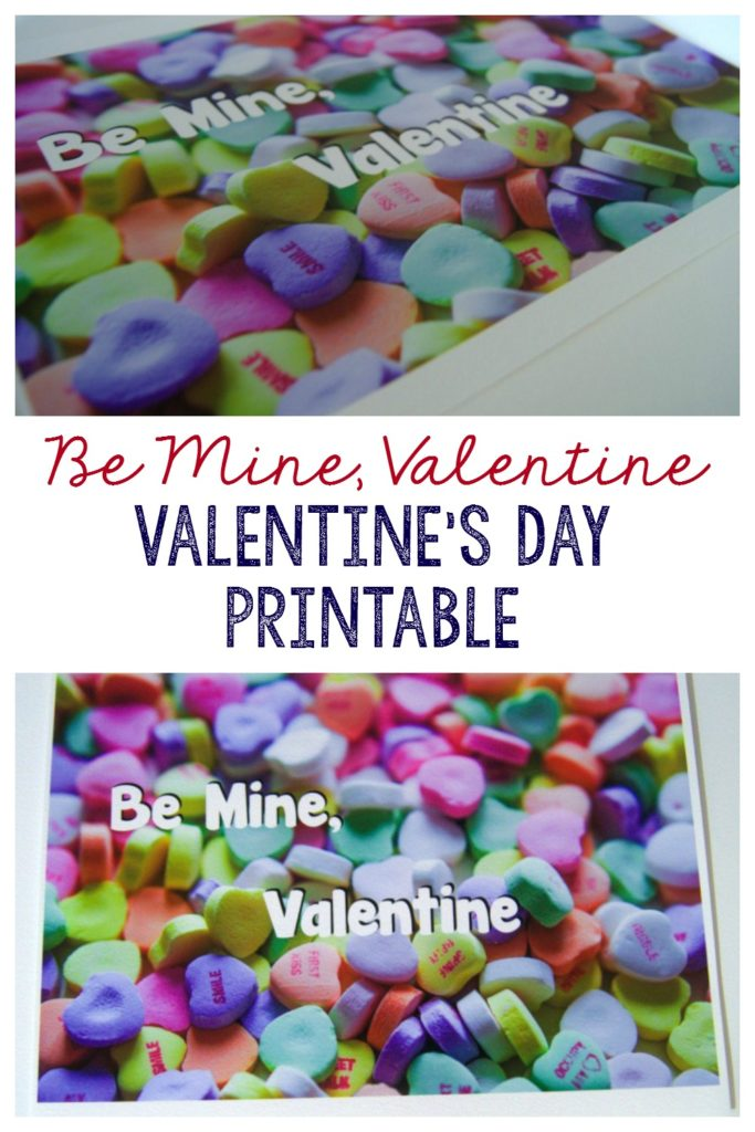 Get your free Be Mine Valentine printable artwork for Valenitne's Day