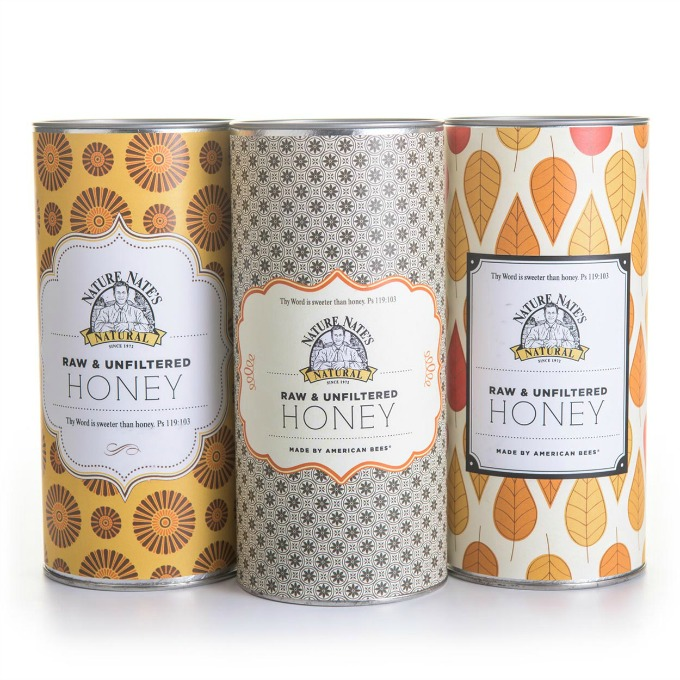 Give the gift of pure honey with Nature Nate's honey tins