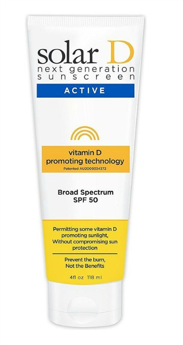 Solar D sunscreen allows you to absorb vitamin D
