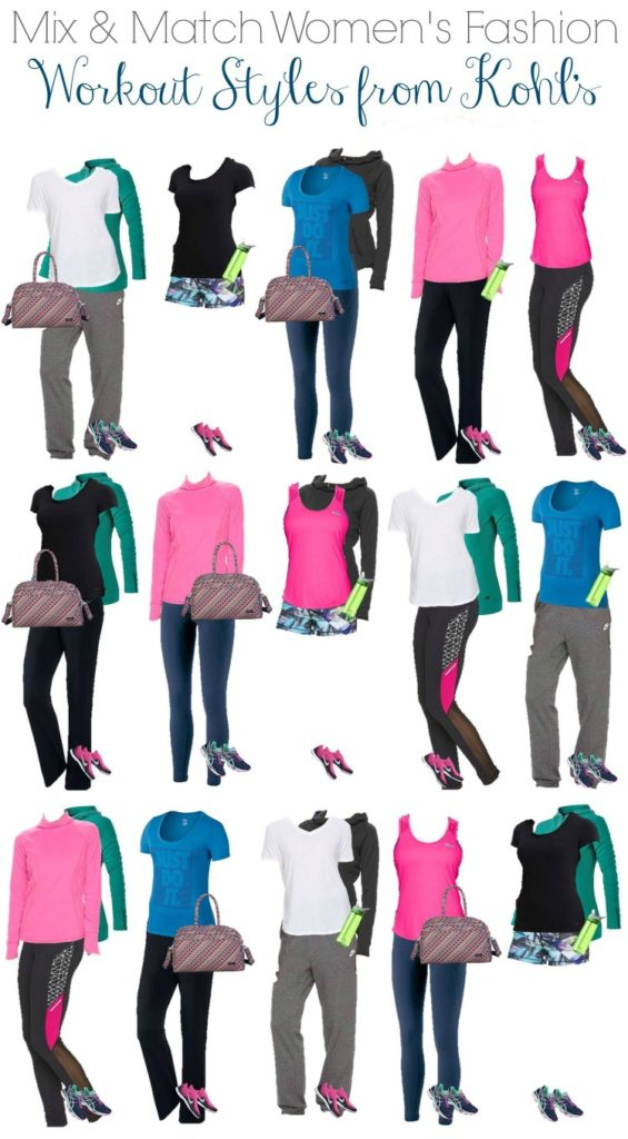 Kohls Workout wear capsule wardrobe