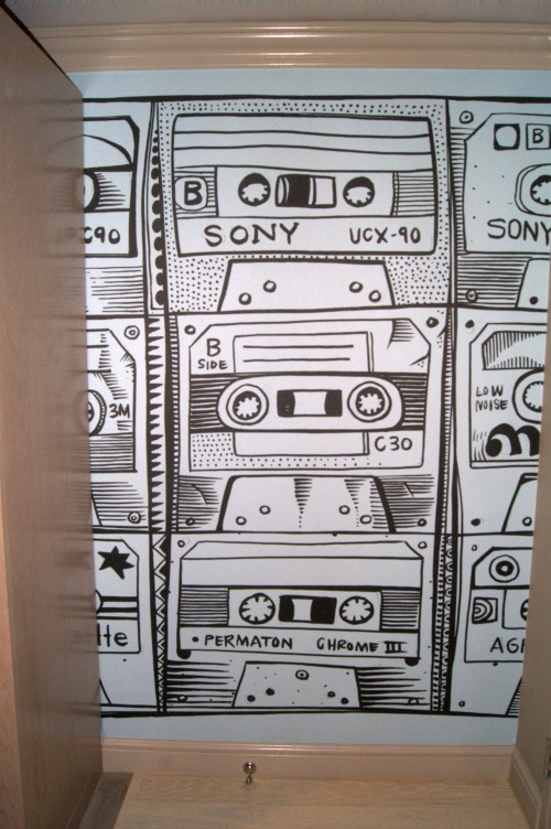 Cassette Tape wallpaper at the Radisson Blu Minneapolis