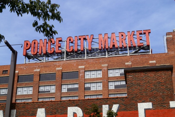 Ponce City Market sign in Altanta, GA