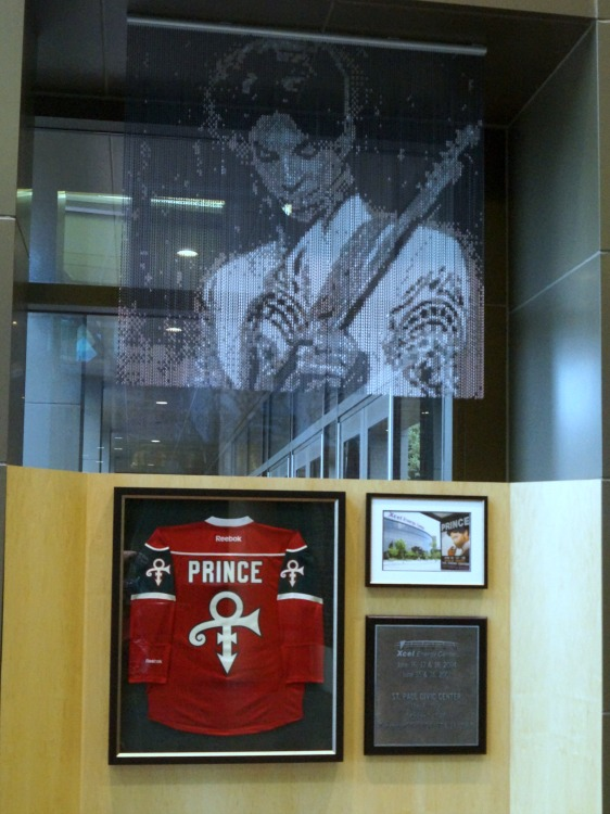 Prince Chain Portrait at Xcel Energy Center