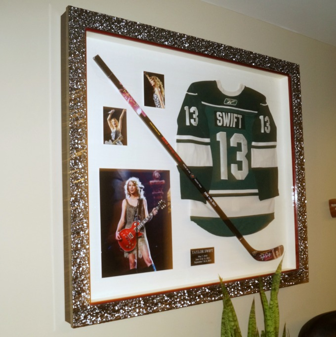 Taylor Swift memorabilia from Xcel Center