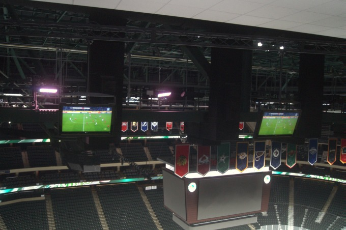 Xcel Center Press Box TVs