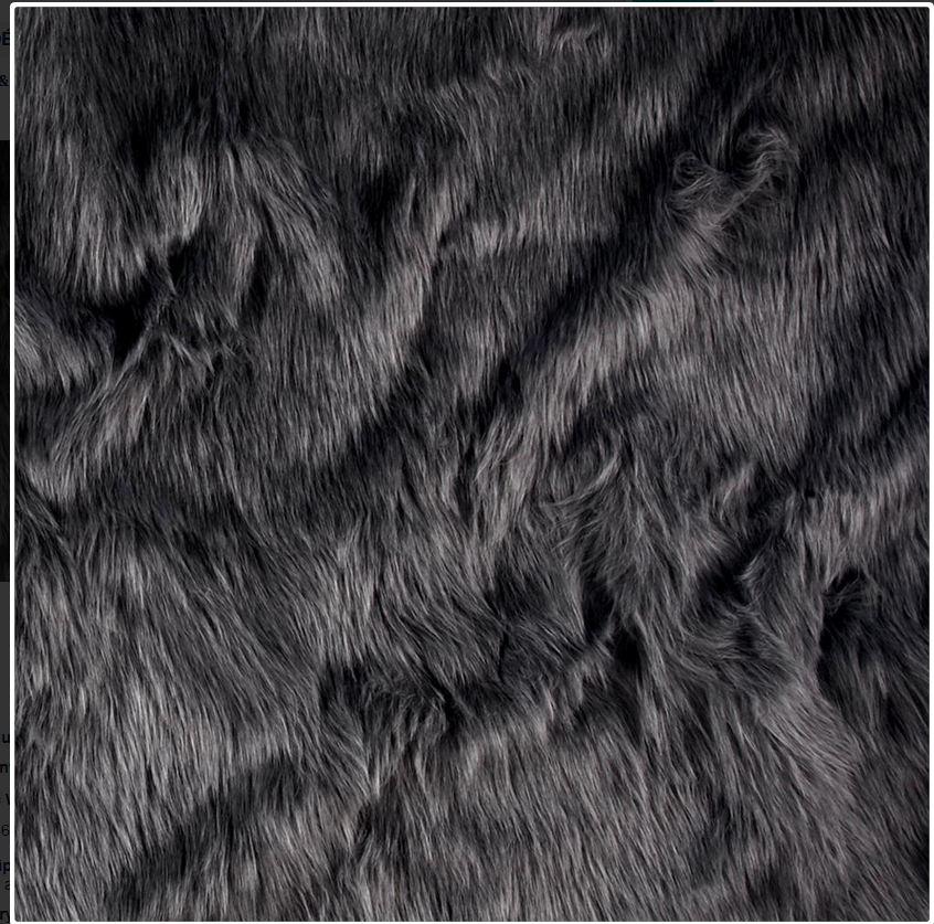 Dark Grey faux fur fabric