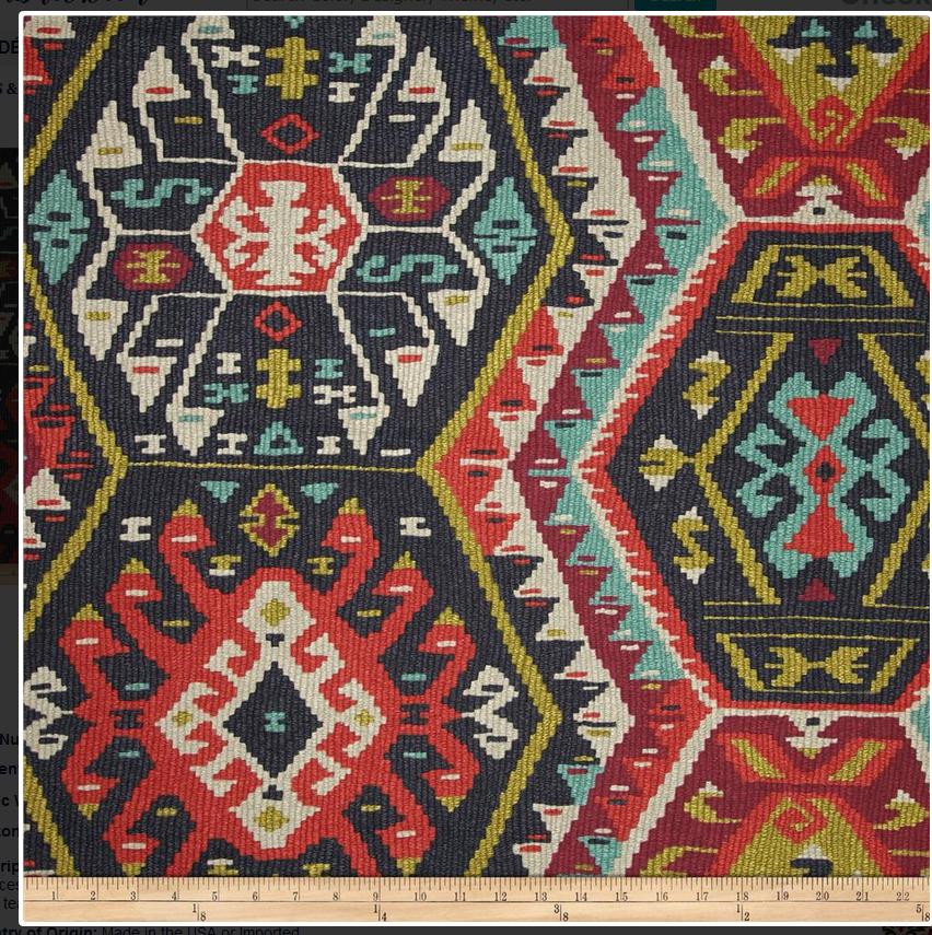 P Kaufmann Longrock Fiesta fabric