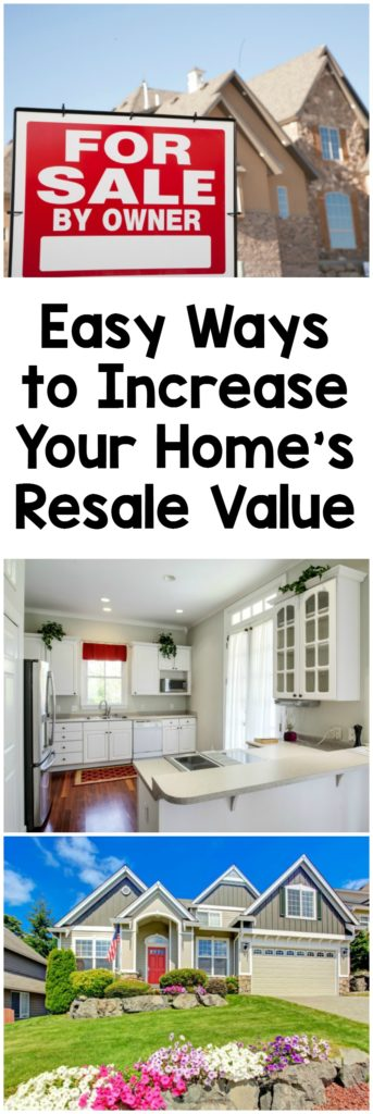 Easy ways to increase your home's resae value.