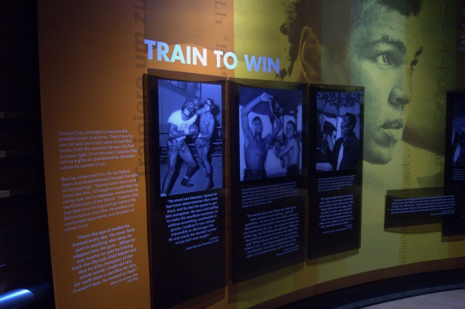 Cassius Clay Train to Win Display