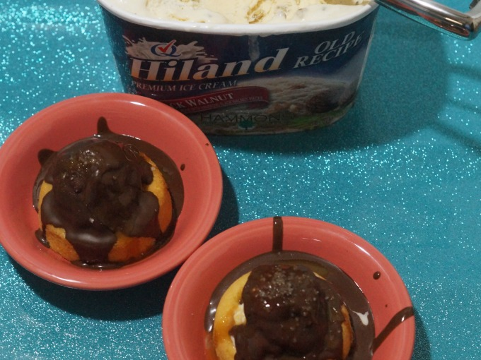 Ice cream bombes with Black Walnut ice cream from Hiland
