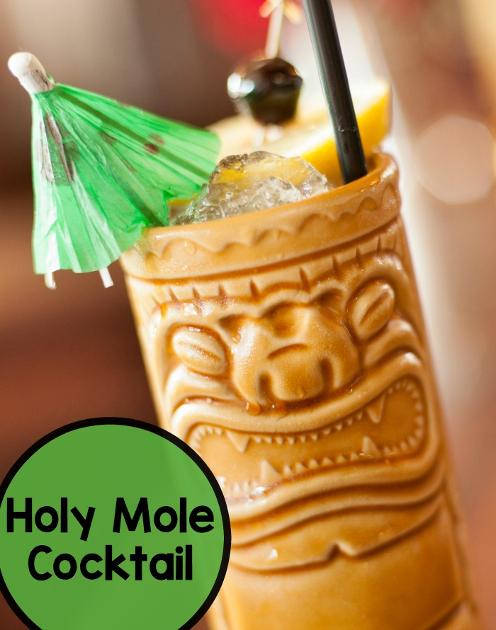 The Holy Mole bourbon tiki cocktail is so easy to make, and will have your friends begging for more at your next party. The drink has a sweet heat that's sure to please.