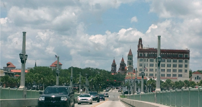 St Augusting Florida over the bridge