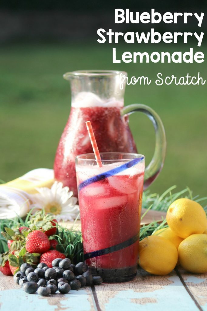 This fresh Blueberry Strawberry Lemonade recipe is o easy to make, it will become a staple at your get togethers. No one has to know this mocktail drink is so quick though. It's our little secret.