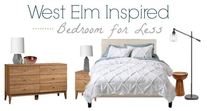 Get this Mid Century Modern Luxe inspired bedroom for less