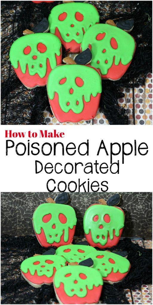 Learn how easy it is to make decorated sugar cookies that look like the poisoned apple from Snow White.