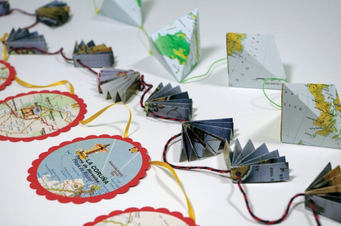 Learn how to make paper garlands in three styles