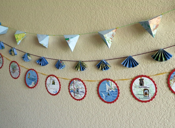 Learn how to make paper garlands in three different styles.